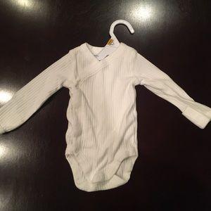 Carter's white onesie newborn